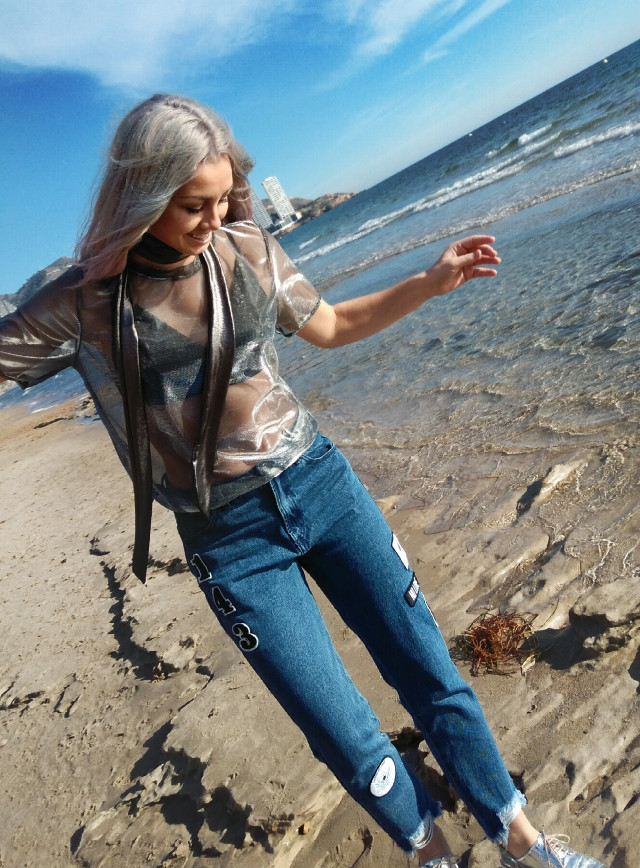 Follow my insta for more pics :) <3 #FreeToEdit #beach #hair #haircolor #silverhair #silverwhitehair #hairstyle  #photography #photooftheday #photoshoot #photoart #retro #summer #travel #vintage #winter #rain #nature #emotions #ballet #ballerina #dance #dancer #dancing #dancephotography #art #artistic #artist #artists #flower #model #modeling #blackandwhite #popart #FreeToEdit