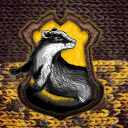 freetoedit hufflepuff hufflepuffpride yellow badger