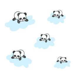 panda clouds cutout myedit freetoedit