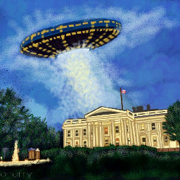 wdpthewhitehouse ufo picsartpainting