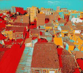 photocomposition colorful theprometeus valencia