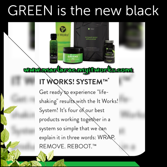 Here is another great package to get fit! Start fighting of the winter blues!! WRAP • REMOVE • REBOOT! 💚It Works!💚 #itworks #fightthecarbs #loseweightnowaskmehow #losethewinterfat #wrapgirl #reboot #itworksgreens #itworkswraps #FreeToEdit