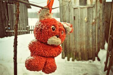 bear teddy red old vintage