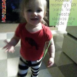 mommysgirl almost2 diytoddlerpants madefromsweatersleeves craftymomma