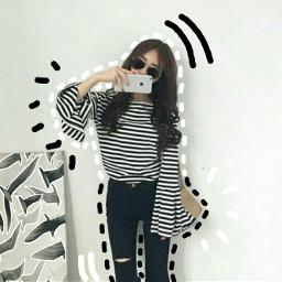 freetoedit selfie mirrorselfie blackandwhite malaysia