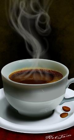 wdpcoffee digitalart coffeecup food sepia freetoedit