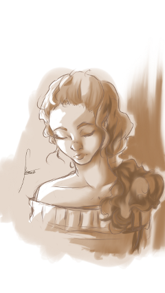 freetoedit digitalart curlyhair sketch