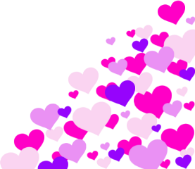 hearts pink purple freetoedit