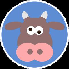 ftestickers cow freetoedit