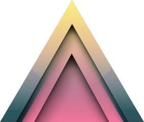 triangle geometric shapes mountain pastel