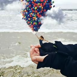 freetoedit surrealism#balloons#fantasy surrealism balloons fantasy